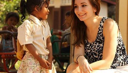 Janneke in Cambodja