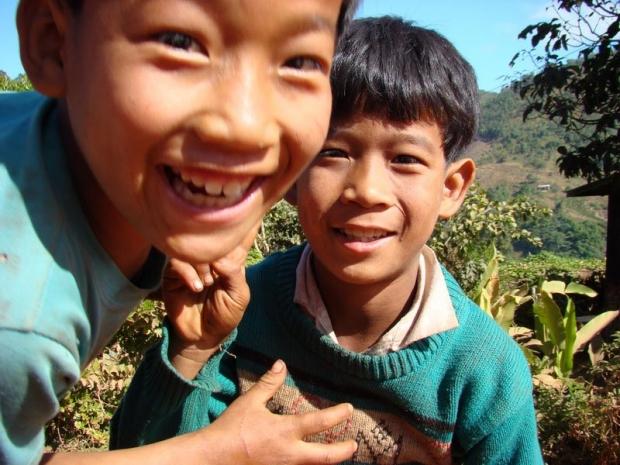 kinderen in Myanmar