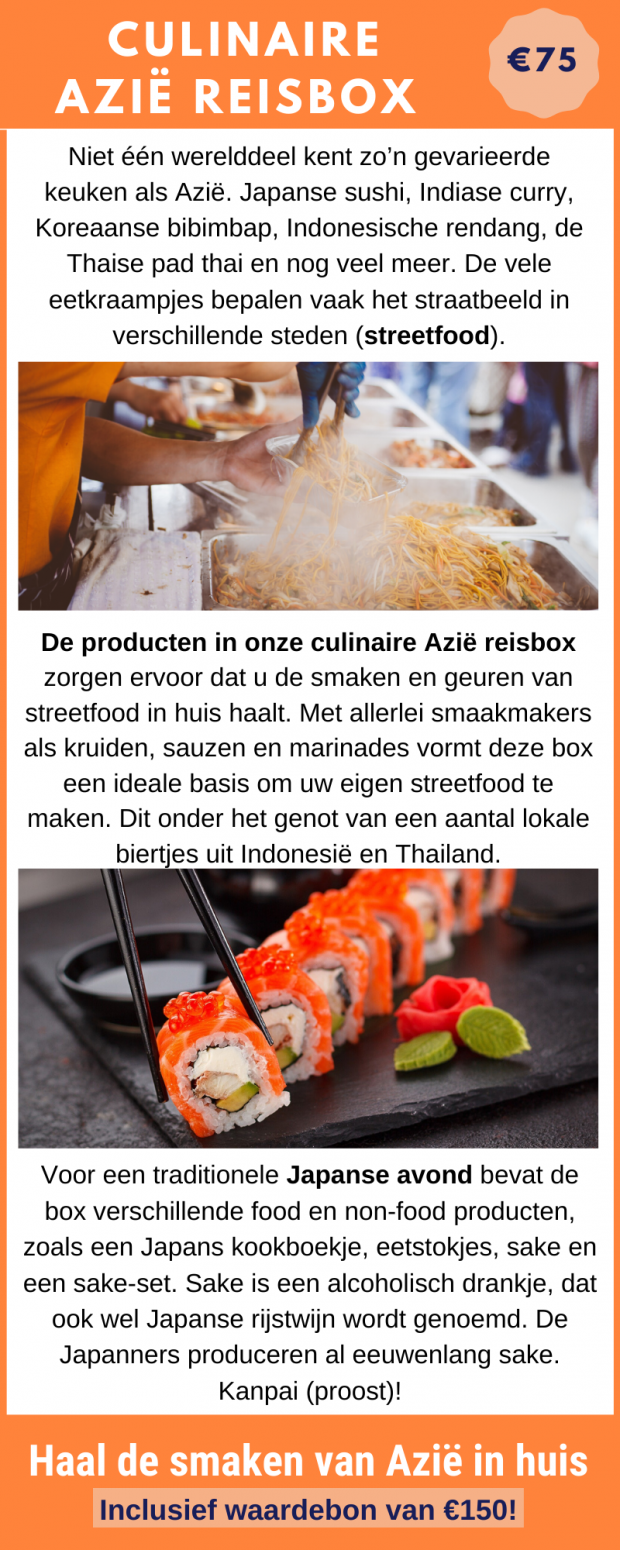 Bestel de culinaire Azië reisbox