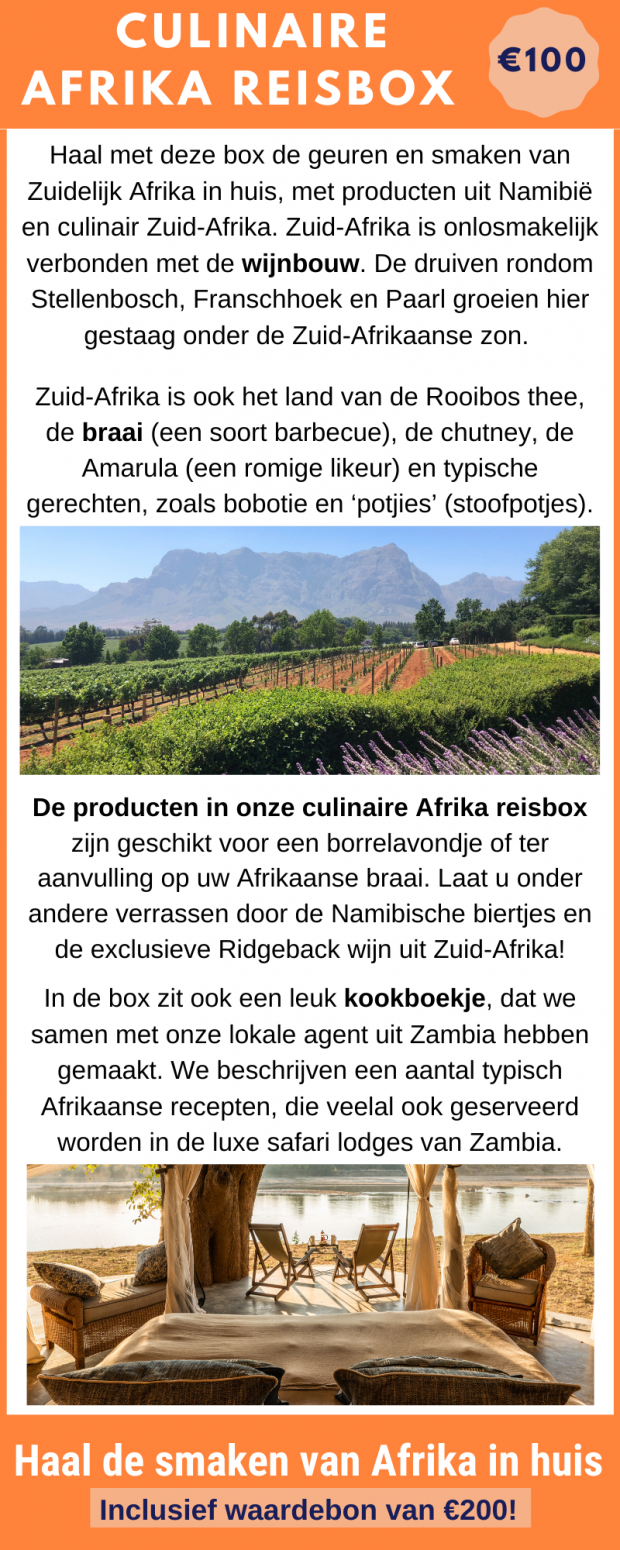Bestel de culinaire Afrika reisbox
