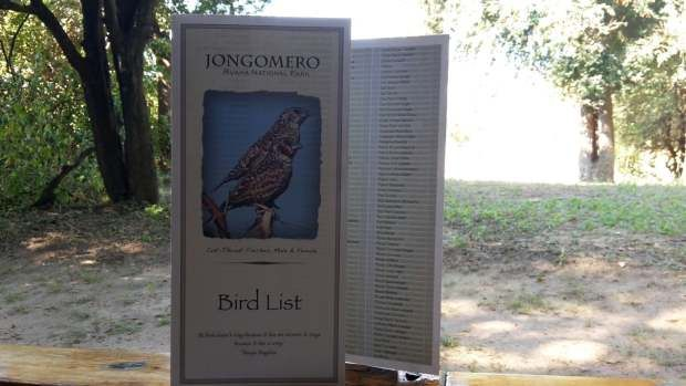 Jongomero Bird List