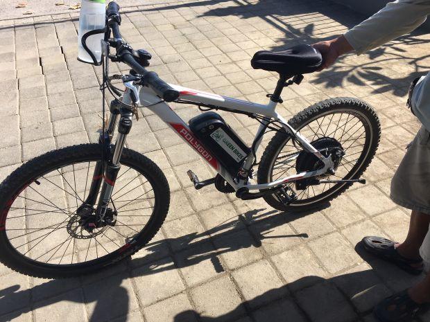 sportieve e-bike op Bali
