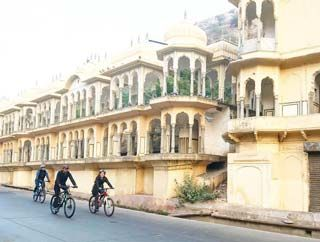 fietsen in Jaipur