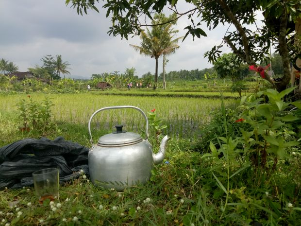 Cycling Yogya Tea Break