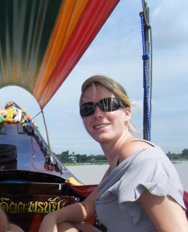Foto Rianne op de boot