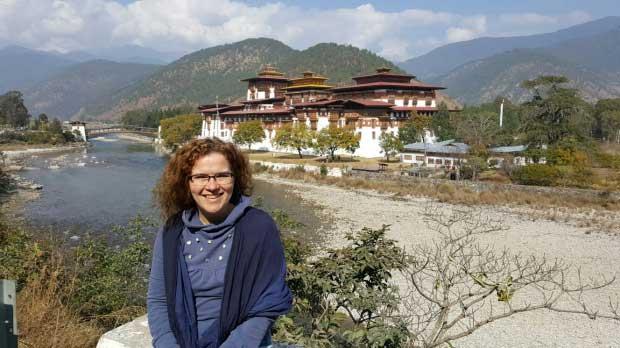 Mieke in Bhutan