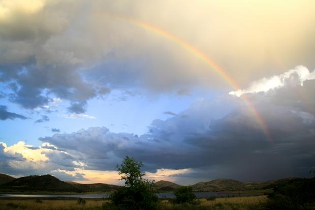 Regenboog bij Welgevonden Nationaal Park