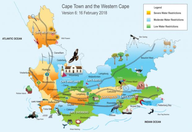 Water Restrictions Map Western Cape