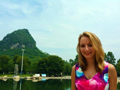 Janneke in China