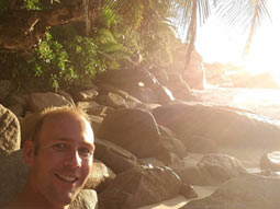 Martijn op de Seychellen