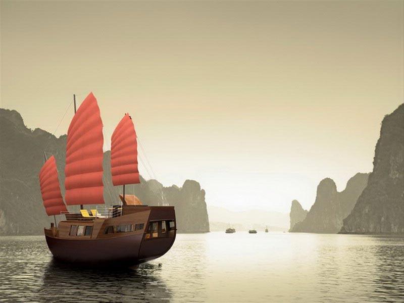 Vietnamese cruise Halong Bay