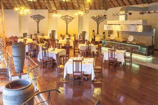 Chobe National Park - Chobe Bush Lodge, restaurant - foto: lokale agent