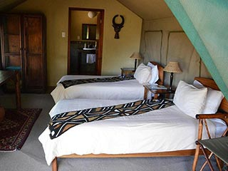 Zuid-Afrika - Kamer interieur - foto: Greenfire Game Lodge